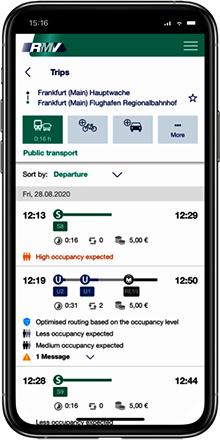 RMV app frankfurt