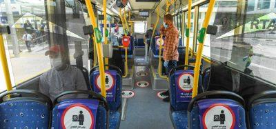 dubai bus physical distancing