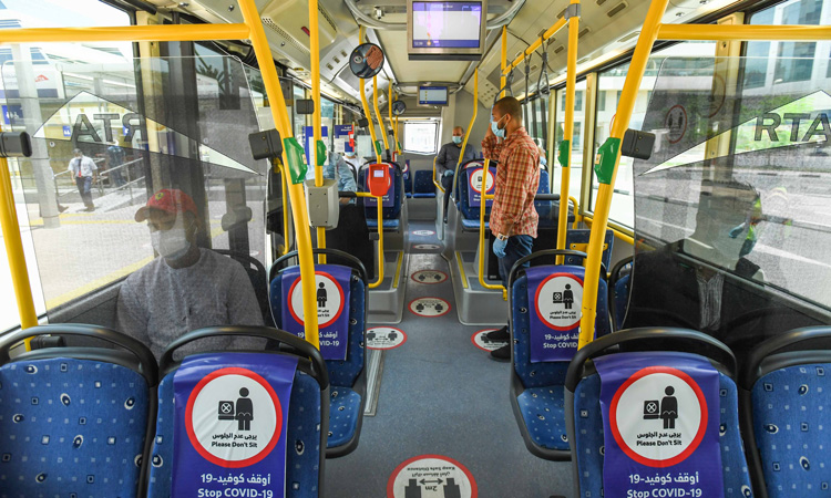 dubai bus physical distancing