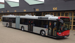 Solaris articulated bus with Spheros Citysphere units for Rheinbahn Düsseldorf