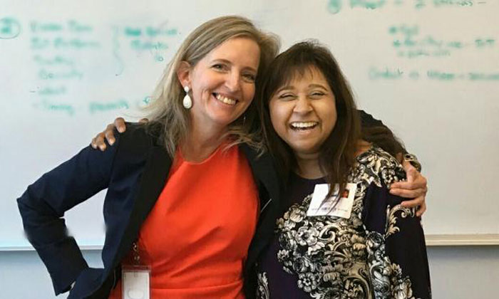 The City of Sacramento's CIO Maria MacGunigal (left) and Verizon's Lani Ingram