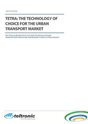Whitepaper: TETRA - the technology of choice for the urban transport market
