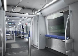 More space plus innovative lighting: the C2 trains have an elegant look to them. Copyright: SWM/MVG/N+P Industrial Design