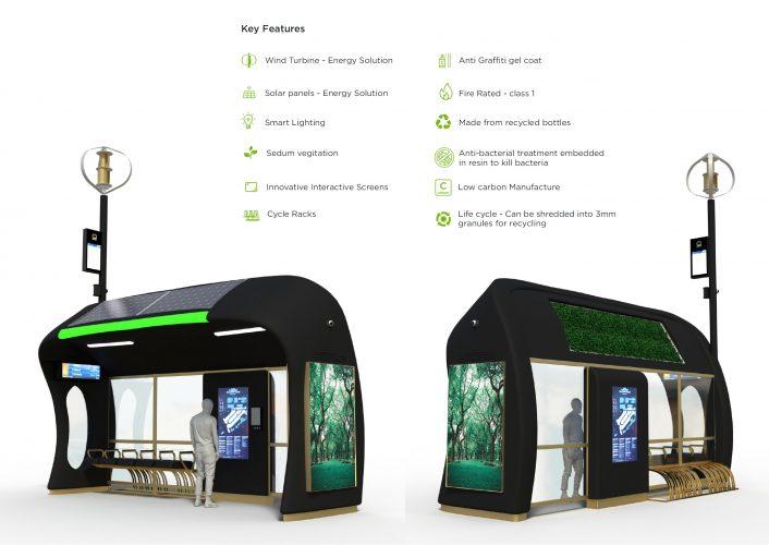 Worcester Smart bus shelters