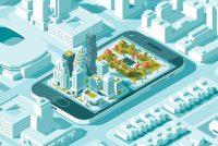 Smart urban mobility illustration