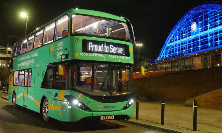 Stagecoach electric bus in Manchester