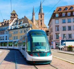 CTS tram in Strasbourg - accessible via Hoplink