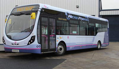First has placed an order for 301 Wrightbus vehicles including 274 of its 'StreetLite Micro Hybrid' buses