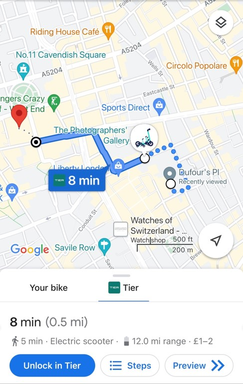 TIER and Google Maps integration