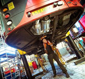 TfL has retrofitted its older buses to make lthem less polluting.