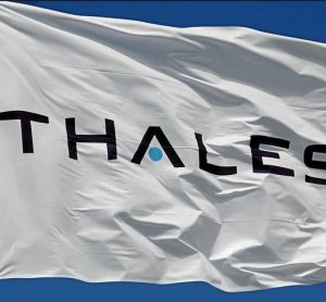 Thales logo on flag