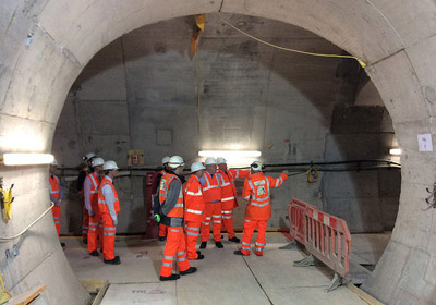 Transport Minister views Victoria tube station upgrade work
