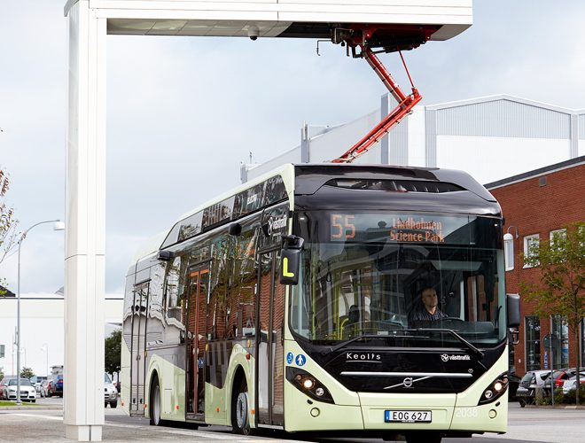 Bus service in Swedish town of Värnamo goes electric