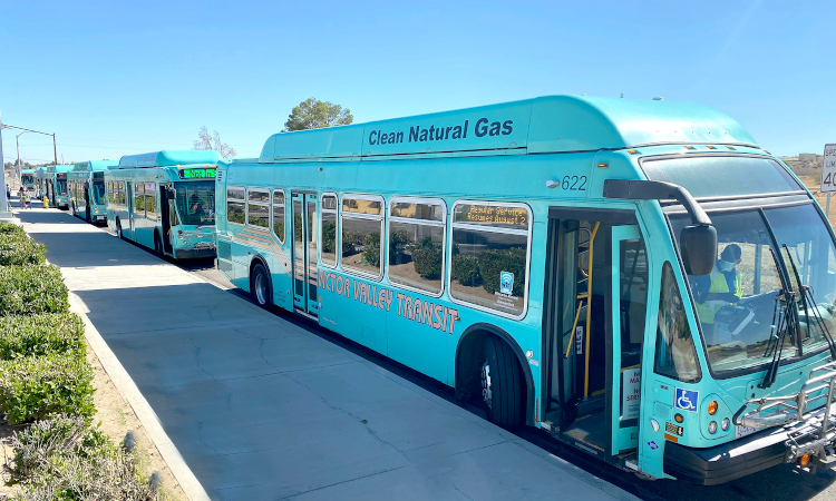 Victor Valley Transit Authority buses, now operated and maintained by Keolis