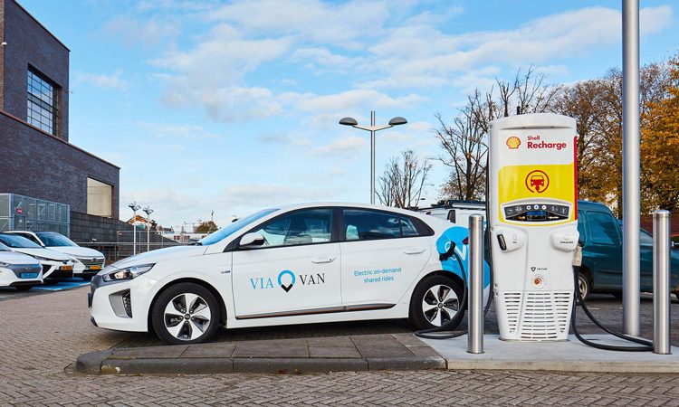 ViaVan and Shell launch fast-charging EV shared ride project in Amsterdam
