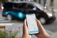 Via demand-responsive on-demand transport app and vehicle