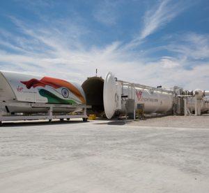 Virgin Hyperloop One's test pod in India