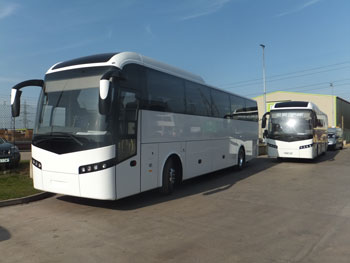 Volvo Bus had several vehicles on display at the Thomas Hardie Open Day in Deeside.