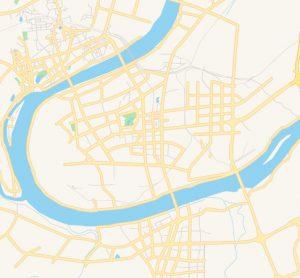 Street map of Xiangtan