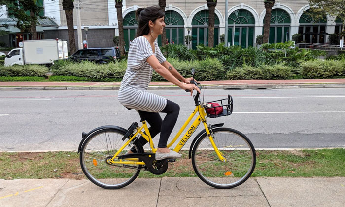 Yellow has raised $9 million for Brazil's first dockless bike-sharing service