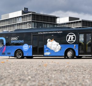 A new electric central drive for city buses has been unveiled by ZF