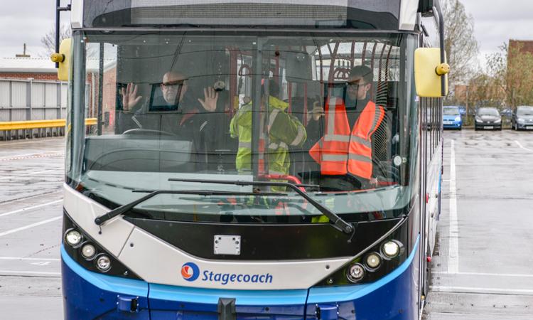 UK's first full-sized autonomous bus begins depot trials
