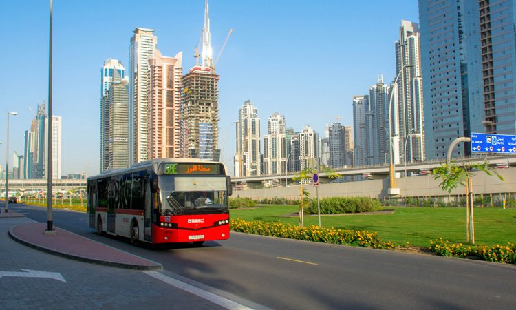 bus driving in Dubai