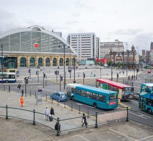 buses at liverpool's lime street station