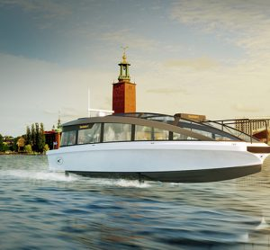 The electric ferry will carry passengers at up to 30mph