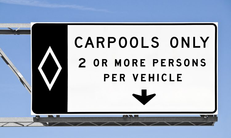 Car-pooling saves more than 1.6 million tonnes of CO2 per year