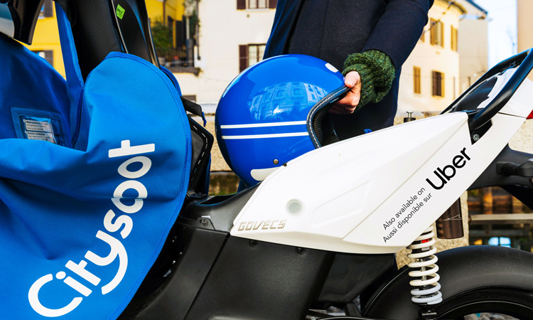 Uber to integrate Cityscoot e-mopeds in the Uber app in Paris