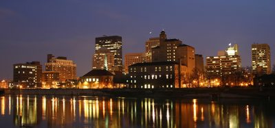 Dayton, Ohio at night