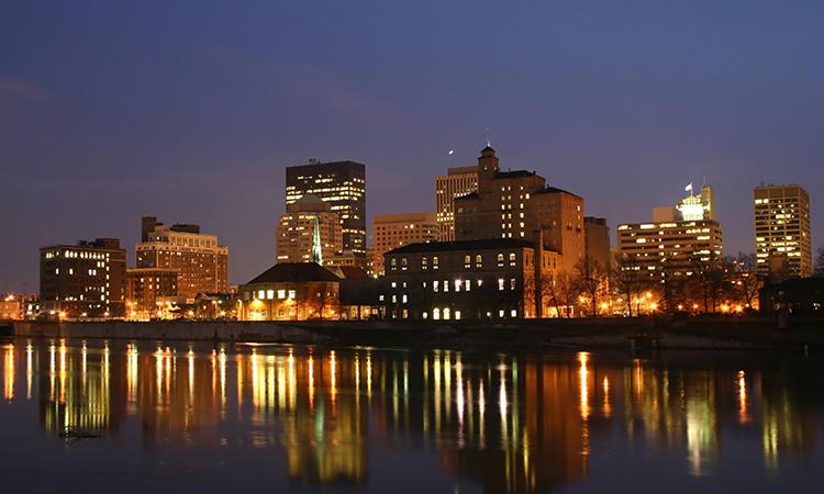 Dayton, Ohio at night