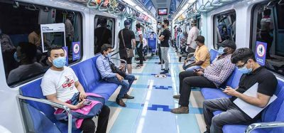 social distancing on Dubai's metro