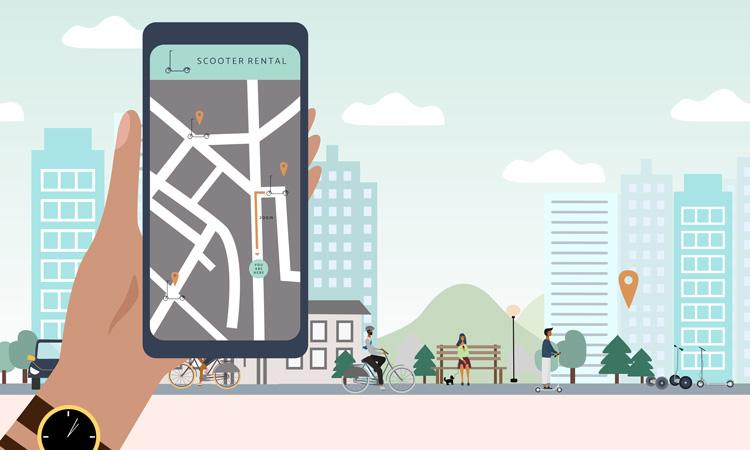 e-scooter app