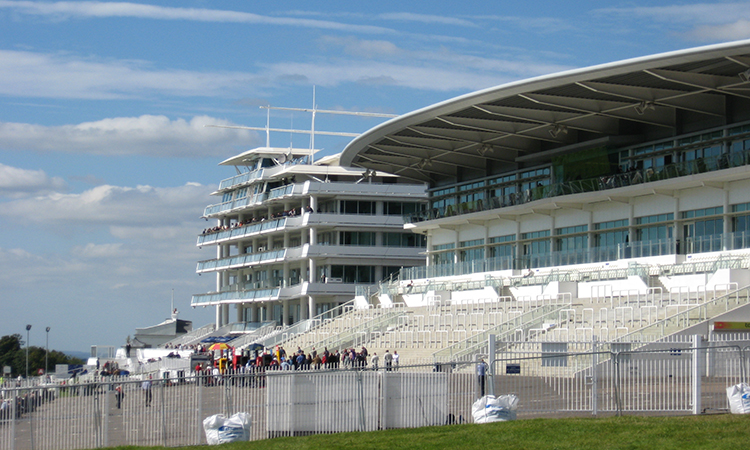 Epsom racecourse is now a vaccination hub in London