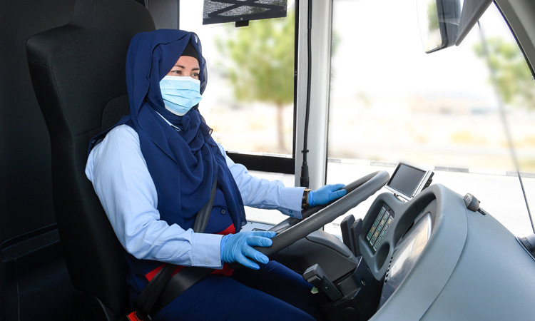 women bus driver in workforce