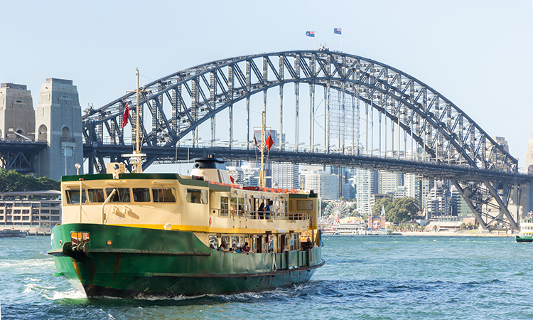 Sydney's ferries cross the paramatta river