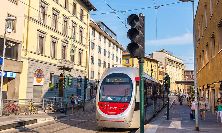A tram in Florence