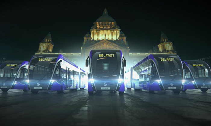 The new Rapid Transit 'Glider' vehicle is set to be the iconic new face of public transport in Belfast