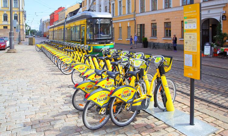 Helsinki bikes scheme
