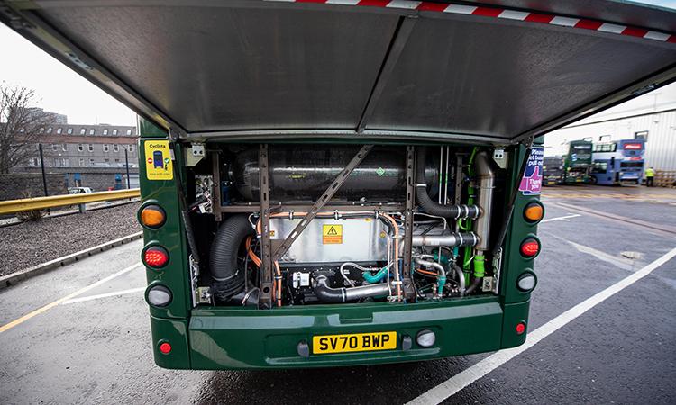 hydrogen bus engine