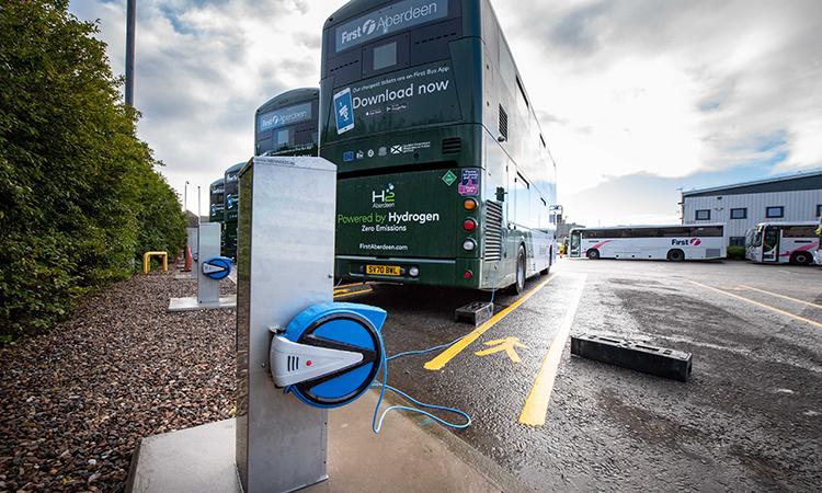 hydrogen charging point Aberdeen