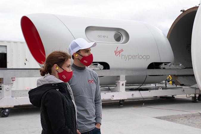 Virgin Hyperloop test site in Nevada