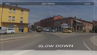 Traffic sign and obstacle detection applications for the CLASS smart cars