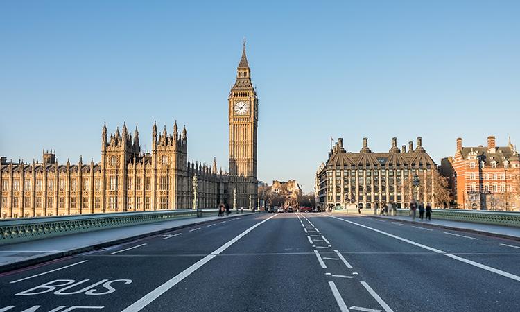 Westminster bridge empty
