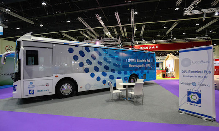 Locally manufactured all electric Eco-Bus has been unveiled by Masdar