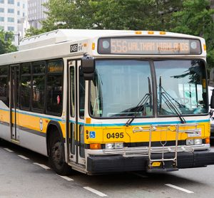 MBTA bus in Boston