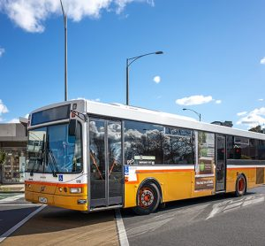 Melbourne bus at an intersection