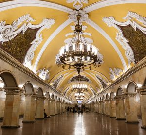 The Moscow Metro is beautifully decorated